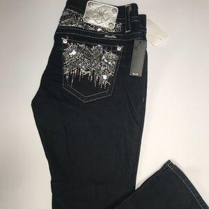 Miss Me Jeans Black 31 Inch Waist 30 Inch Inseam